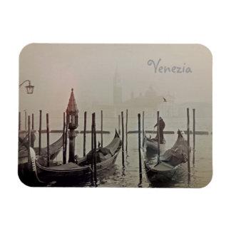 Gondolas in the fog, Venice, Italy Magnet