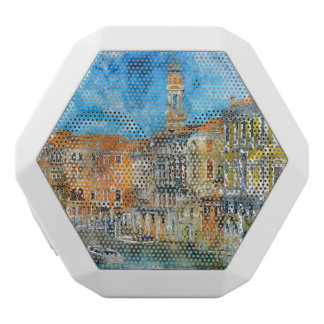Gondolas in the Grand Canal in Italy White Bluetooth Speaker