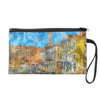 Gondolas in the Grand Canal in Italy Wristlet