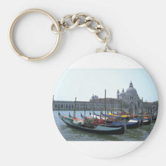 Gondolas in the Grand Canal, Venice, Italy Keychain