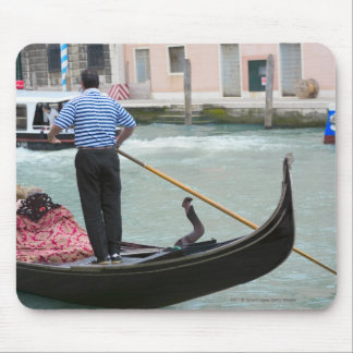 Gondolas in Venice canal Mouse Pad