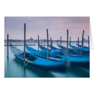 Gondolas in Venice Card