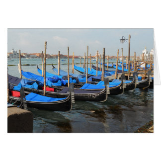 Gondolas in Venice Greeting Cards