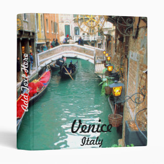 Gondolas on a Venetian canal Binder