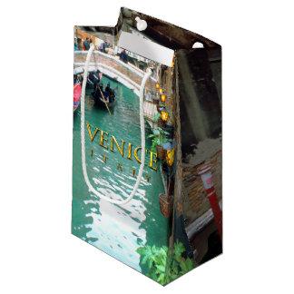Gondolas on a Venetian canal Small Gift Bag