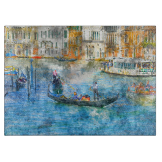 Gondolas on the Grand Canal in Venice Italy Boards