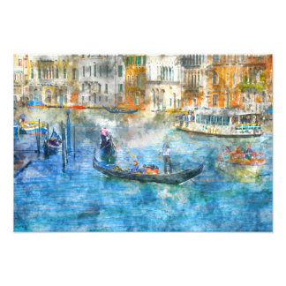 Gondolas on the Grand Canal in Venice Italy Photo Print