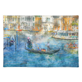 Gondolas on the Grand Canal in Venice Italy Placemat