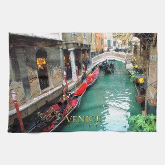 Gondolas- Venice, Italy Kitchen Towel