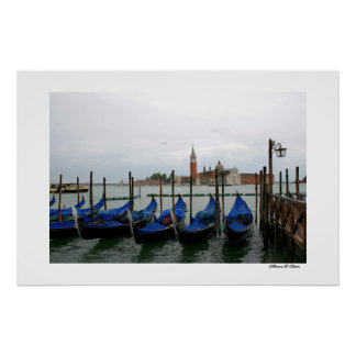 Gondolas with a View Poster