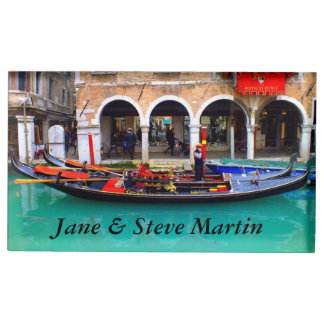 Gondolier in Cannaregio Table Card Holder