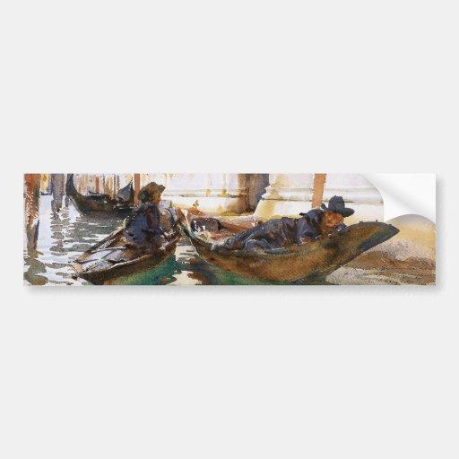 Gondoliers' Siesta by John Singer Sargent Bumper Sticker