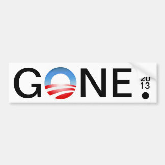 GONE 01 20 13 . BUMPER STICKER