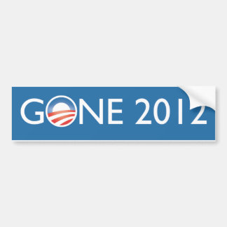 Gone 2012 bumper sticker