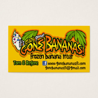 Gone Bananas Business Card