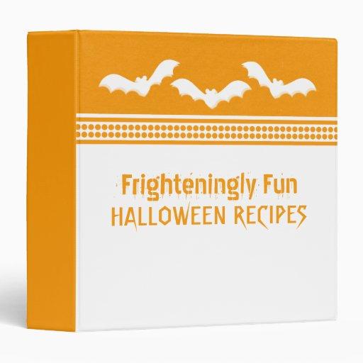 Gone Batty Halloween Binder (1.5 in) White/Orange