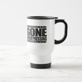 GONE BENCH PRESSING - Love Strength & Conditioning Travel Mug