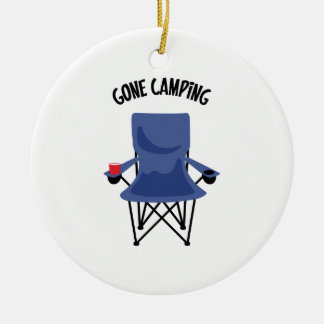 Gone Camping Ceramic Ornament