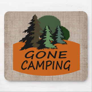 Gone Camping Happy Camper Mouse Pad