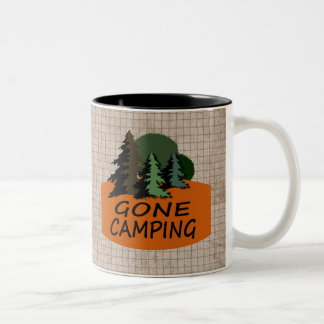 Gone Camping Happy Campers Logo Two-Tone Mug