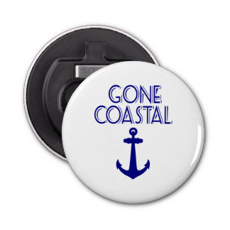 Gone Coastal Navy Blue Anchor Bottle Opener