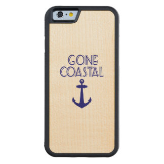 Gone Coastal Navy Blue Anchor Carved Maple iPhone 6 Bumper Case