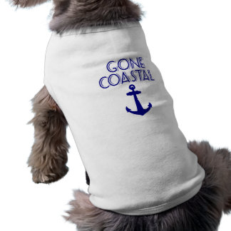 Gone Coastal Navy Blue Anchor Doggie T Shirt