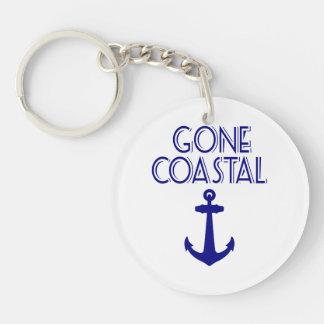 Gone Coastal Navy Blue Anchor Keychain