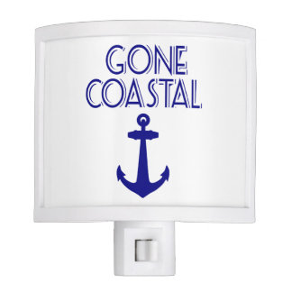 Gone Coastal Navy Blue Anchor Night Light