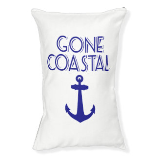 Gone Coastal Navy Blue Anchor Pet Bed