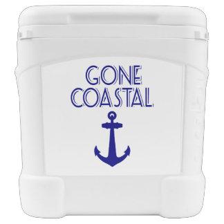 Gone Coastal Navy Blue Anchor Rolling Cooler