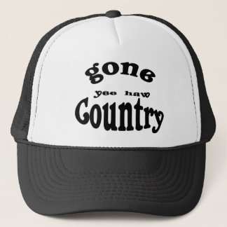 gone country trucker hat