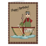 Gone Fishin Happy Birthday Greeting Greeting Cards