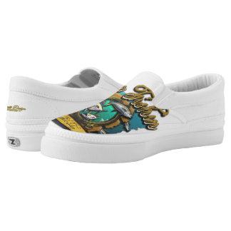 Gone Fishin Man Slip-On Sneakers
