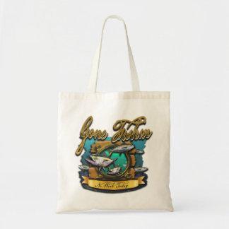 Gone Fishin Port Hole Tote Bag
