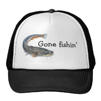 """gone fishin'"" trucker hat"