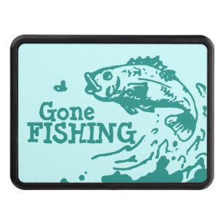 Gone fishing aqua hitch cover