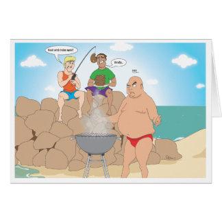 Gone Fishing / Beach BBQ Greeting Card