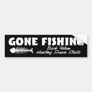 Gone Fishing Bumper Stickers