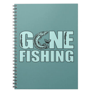 GONE FISHING custom notebook