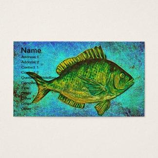 Gone Fishing Digital Art Business Card