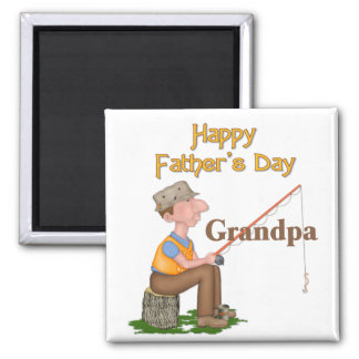 Gone Fishing Father's Day - Grandpa Magnet
