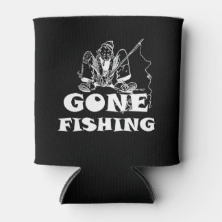 Gone Fishing Funny Custom Can Cooler