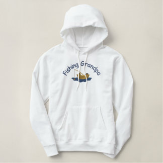 Gone Fishing Grandpa Embroidered Hoodie