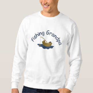 Gone Fishing Grandpa Embroidered Sweatshirt