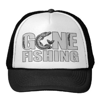 GONE FISHING hat - choose color