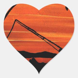 Gone Fishing Heart Sticker