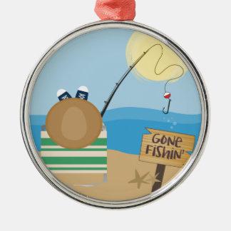 Gone Fishing Metal Ornament