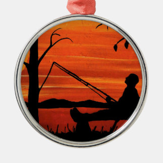 Gone Fishing Metal Ornament