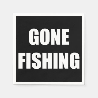 Gone Fishing Paper Napkin